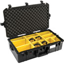 PELI 1605 AIR CASE With padded dividers, internal dimensions 660.4 x 355.6 x 21lack2.9mm, black