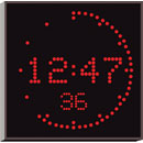 WHARTON 4900N.05.R.S.UK CLOCK 50mm red characters, surface mount