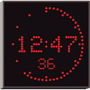 WHARTON 4900E.05.R.S.UK CLOCK 50mm red characters, surface mount