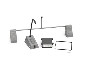 CONTACTA STS-K001L-G SPEECH TRANSFER SYSTEM Bridge bar kit, with hearing loop, grey