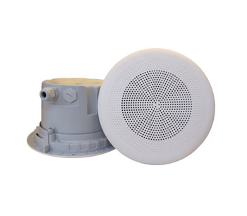 DNH BPF-560CR LOUDSPEAKER Ceiling, 6W, 8 ohms, white RAL9010, clean-room