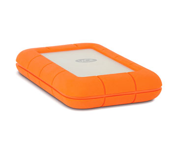 LACIE STEV1000400 RUGGED THUNDERBOLT USB 3.0 1TB EXTERNAL HARD DRIVE, IP54