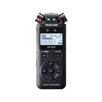 TASCAM DR-05X PORTABLE RECORDER 2-Channel WAV/MP3, micro SD/SDHC/SDXC, mic/line in, stereo omni mic