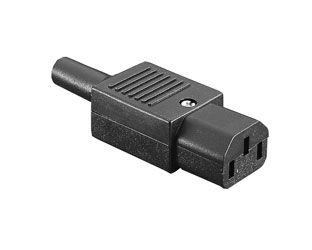 BULGIN PX0587 IEC MAINS CONNECTOR C13 type, female, cable