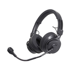 AUDIO TECHNICA BPHS2 HEADSET Stereo, dynamic mic, 3-pin male XLR, 6.35mm jack, straight cable