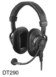 BEYERDYNAMIC DT 290.00 MK II HEADSET 80 ohms, with 200 ohms mic, 1.5m bare ended cable