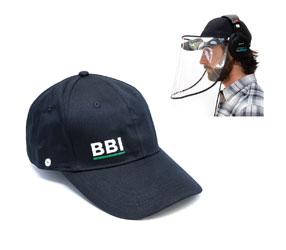 BUBBLEBEE VISOR CAP Removable face shield, black