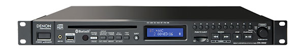 DENON DN-300Z MEDIA PLAYER CD, USB, SD/SDHC, Bluetooth, AM/FM tuner, balanced XLR/unbal RCA out, 1U