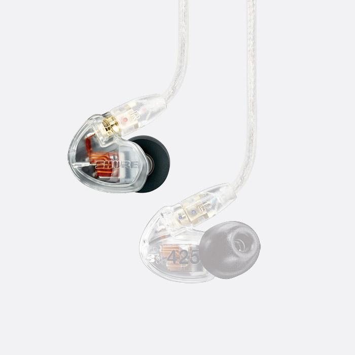 "SHURE EAC46BKS 46/"" Black Cable w Silver MMCX Plug for SE Headphones Earphones"