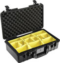 PELI 1525 AIR CASE With padded dividers, internal dimensions 520.7 x 287 x 171.lack5mm, black