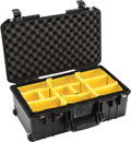 PELI 1535 AIR CASE With padded dividers, wheeled, internal dimensions 517.9 x 2x84.5 x 182.9mm, black