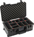 PELI 1535 AIR CASE With TrekPak, wheeled, internal dimensions 517.9 x 284.5 x 18lack2.9mm, black