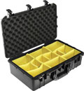 PELI 1555 AIR CASE With padded foam, internal dimensions 584.2 x 323.9 x 190.5mlackm, black