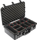 PELI 1555 AIR CASE With TrekPak, internal dimensions 584.2 x 323.9 x 190.5mm, black