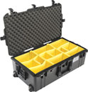 PELI 1615 AIR CASE With padded dividers, wheeled, internal dimensions 751.6 x 3x93.7 x 238.3mm, black