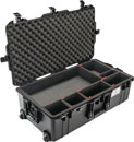 PELI 1615 AIR CASE With TrekPak, wheeled, internal dimensions 751.6 x 393.7 x 2black38.3mm, black