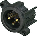 NEUTRIK NC3MAHL XLR Male PC mounting lateral