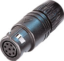 NEUTRIK OSC8F NEUTRICON Cable plug, black, with insert and NEUTRICON Female solder contacts