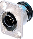NEUTRIK ORP8M-NI NEUTRICON Panel socket, nickel, with insert and NEUTRICON Male solder contacts