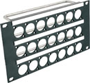 CANFORD UNIVERSAL CONNECTION PANELS - Half rack width - Flat